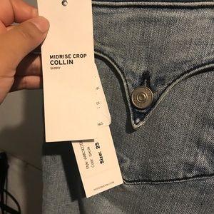Hudson Midrise crop skinny jeans NWT